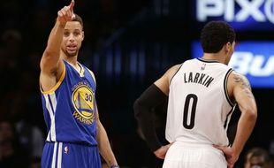 Stephen Curry lors du match entre Golden State et Brooklyn le 6 décembre 2015.
