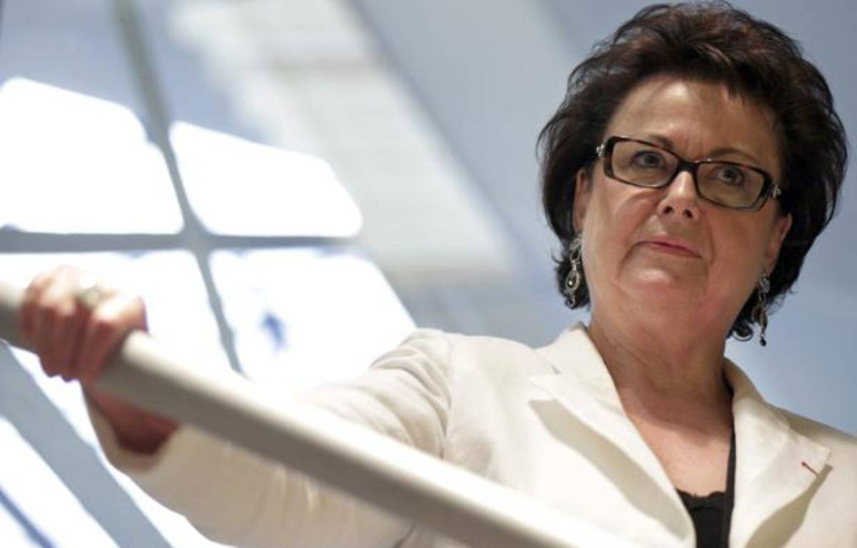 Christine Boutin, le 8 octobre 2011, lors de l'inauguration de son QG de campagne à Levallois-Perret – Thomas Samson/ AFP