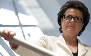 Christine Boutin, le 8 octobre 2011, lors de l'inauguration de son QG de campagne à Levallois-Perret