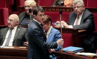 Le Premier ministre Manuel Valls, le 25 novembre 2015 à l'Assemblée nationale à Paris