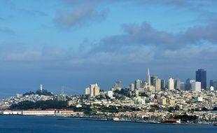 Vue panoramique de la ville de San Francisco, aux Etats-Unis.