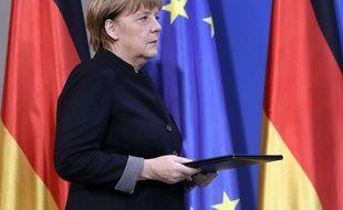 Angela Merkel avant une déclaration, le 20 décembre 2016