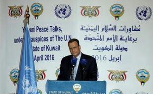 Le médiateur de l'ONU Ismaïl Ould Cheikh Ahmed à Koweït le 30 avril 2016