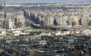 Vue générale d'Alep, une ville du nord de la Syrie, le 3 mars 2015