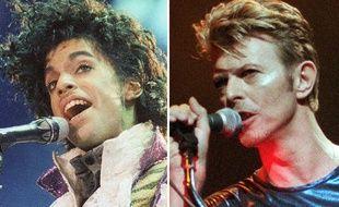 David Bowie et prince, deux artistes disparus en 2016.