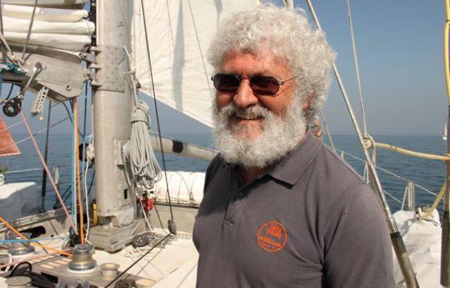 Eric Karsenti, co-directeur de l'expédition Tara Océans, à bord de Tara le 31 mars 2012.
