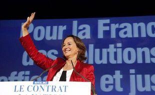 Ségolène Royal en meeting pour la primaire du Parti socialiste, le 10 septembre 2011, à Montreuil.