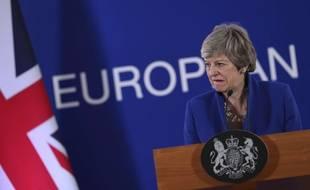 La Première ministre britannique Theresa May à Bruxelles, le 11 avril 2019.