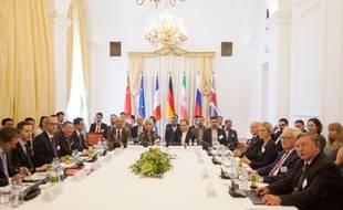La précédente rencontre des diplomaties allemande, britannique, française, chinoise, russe et iranienne, le 28 juillet 2019, à Vienne, en Autriche.