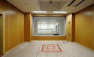Une pièce où ont lieu les exécutions par pendaison à Tokyo (illustration).