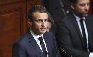 Emmanuel Macron s'exprime à Versailles, devant le Congrès, le 3 juillet 2017.