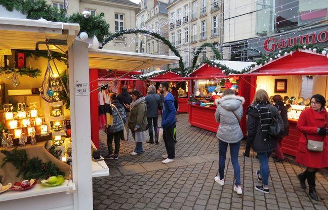 Le marché de Noël de Nantes 2017, place du Commerce.