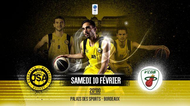 Sami Driss et les JSA affrontent le Valence Condom Gers Basket, ce samedi, au Palais des Sports de Bordeaux.