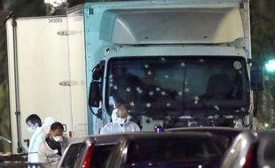Le camion qui a fauché les passants à Nice, le 14 juillet