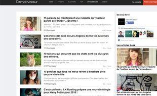 La page d'accueil du site Demotivateur.fr