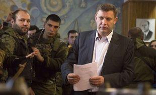 Le «Premier ministre» de la république autoproclamée de Donetsk, Alexandre Zakhartchenko, à Donetsk, le 2 novembre 2014.