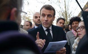 Le président Emmanuel Macron le 21 novembre 2019 à Amiens.
