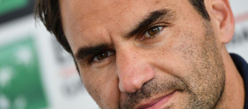 Une conférence de presse de Roger Federer, un événement toujours très codifié.