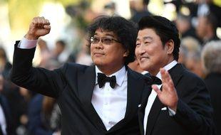 Bong Joon-ho remporte la Palme d'or du Festival de Cannes pour «Parasite», le 25 mai 2019.