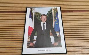 Un portrait d'Emmanuel Macron (illustration)