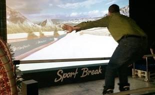 A Sport Break, près de Montpellier, on peut dévaler une piste enneigée comme si on y était.