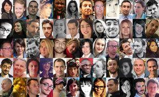 Quelques-uns des visages des victimes des attentats du 13 novembre.