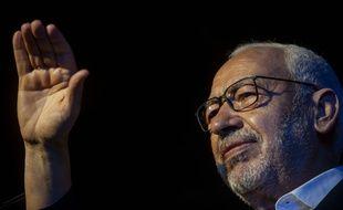 Rached Ghannouchi, en meeting à Tunis, le 3 octobre 2019.