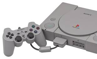 La PlayStation 1, au format d'époque.