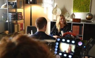 Aurore Delplace sur le tournage de la série Un si grand soleil