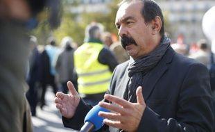 Le numéro un de la CGT Philippe Martinez, le 23 septembre 2015, à Paris