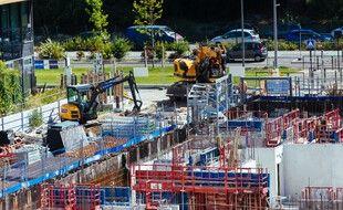 Le chantier de la ZAC Méridia à Nice.