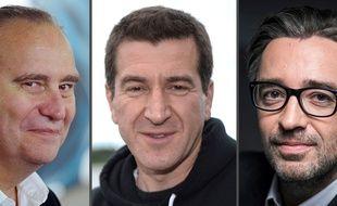 Xavier Niel,  Matthieu Pigasse et Pierre-Antoine Capton, créateurs du fonds Mediawan.