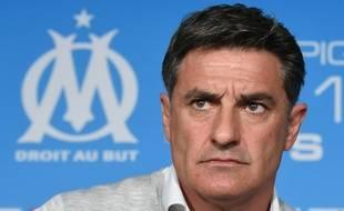 Michel, alors entraîneur de l'OM, le 15 avril 2016, à Marseille.