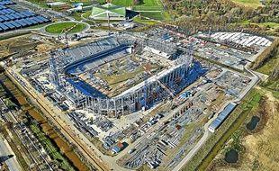 Avancée des travaux du nouveau stade de Bordeaux, fin janvier 2014