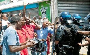 Mamoudzou, épicentre des manifestations contre la vie chère sur l'île de Mayotte.