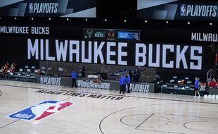 Un terrain vide en NBA