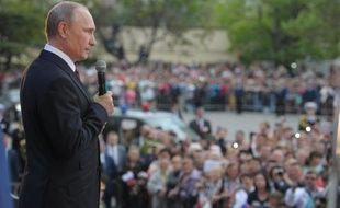Le président russse Vladimir Poutine le 9 mai 2014 à Sébastopol en Crimée