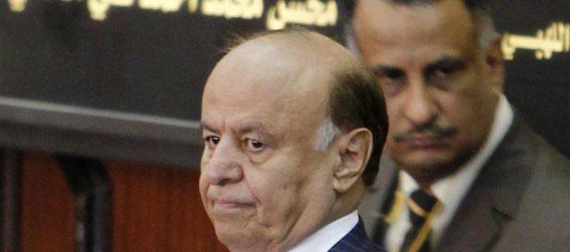 Abd Rabbo Mansour Hadi Mansour Hadi, le 25 février 2012 à Sanaa, Yémen.