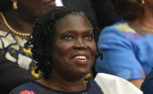 Simone Gbagbo, ex-première dame de Côte d'Ivoire, sur le banc des accusés lors de son procès à Abidjan, le 26 décembre 2014