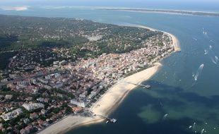 Vue aérienne sur Arcachon.