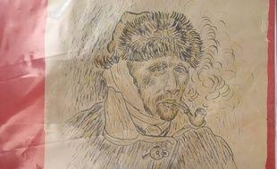 La fausse esquisse de Van Gogh saisie par les policiers de Montpellier.