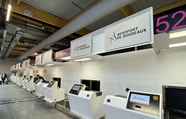 Nouveau systèmeème d'enregistrement automatisé des bagages du terminal Billi de l'aéroport de Bordeaux Mérignac