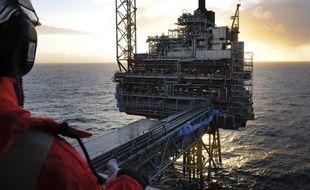 Une plateforme de forage sur le gisement pétrolier d'Oseberg, en mer du Nord, le 25 novembre 2008.