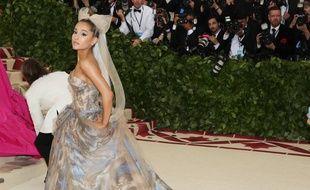 La chanteuse Ariana Grande au Met Gala 2018