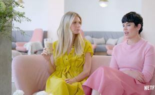 L'actrice Gwyneth Paltrow et la directrice commerciale de Goop, Elise Loehnen, dans la série controversée «The Goop Lab» diffusée sur Netflix