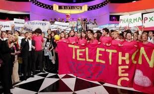 Téléthon 2008, sur le plateau de France 2.