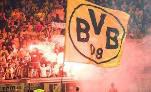 Les supporters du Borussia Dortmund lors de la finale de la Coupe d'Allemagne