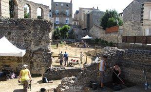 Fouilles archéologiques de l'amphithéâtre du Palais-Gallien 2012