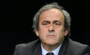Michel Platini lors d'une conférence de presse le 28 mai 2015 à Zurich
