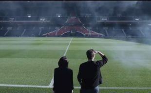 Capture d'écran de la vidéo de présentation de l'Escape Game organisé par le PSG au Parc des Princes à partir du 22 novembre 2017.